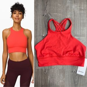 NWT Free To Be Moved High-neck Bra Thermal Red 10